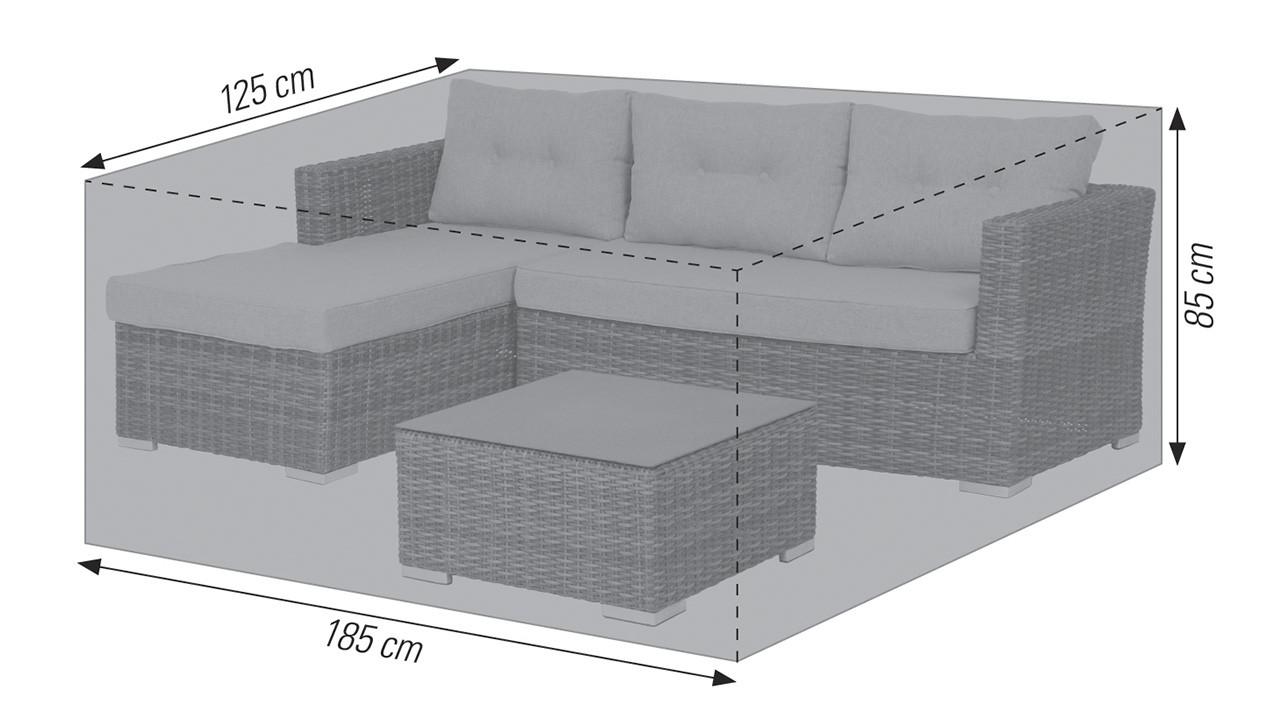 185 x 125 x 85 cm