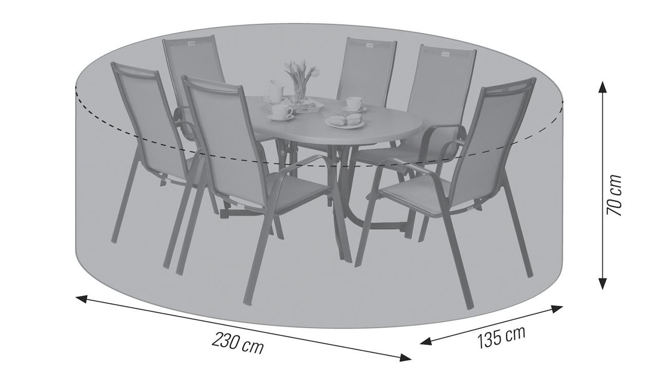 230 x 135 x 70 cm