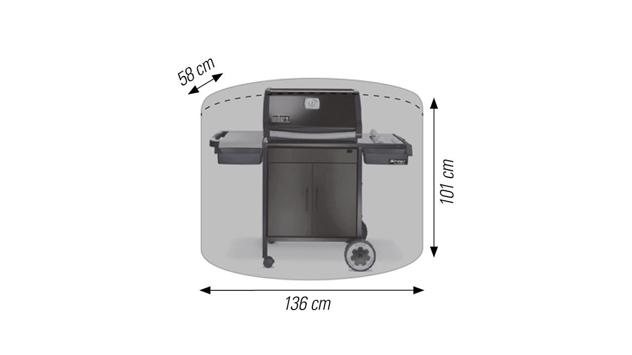 Schutzhülle für Grill 136 x 58 x 101 cm