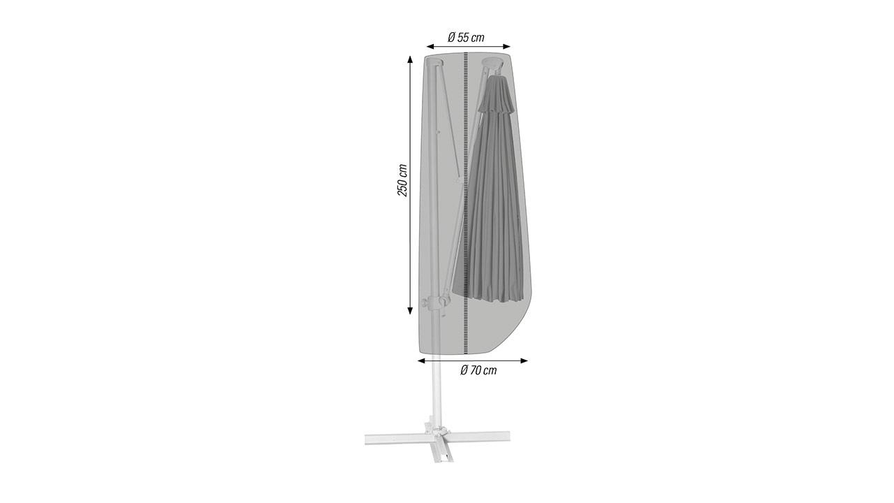 Sonnenschirmhülle Ø 55 / 70 x 250 cm
